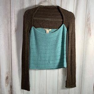 Free People Scoop Neck Wool Blend Sweater